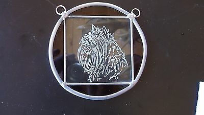 Affenpinscher- Gorgeous  hand engraved medallion by Ingrid Jonsson