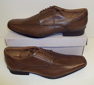 Clarks men's UK size 7 ½ brown all leather shoes, new ...