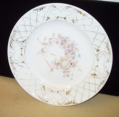 Vintage Germany? Plate with Flowers, Gilding and Embossed Flowers