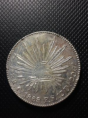 Mexico 1868/7 Pi PS San Luis Potosí 8 Reales Republica Mexicana