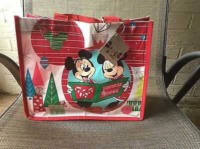 Disney Store Shopper Christmas Minnie And Mickey S/M Size - Limited Edition