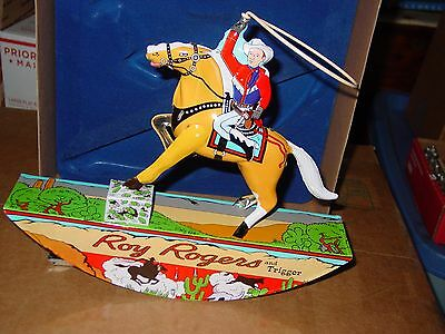 ROY ROGERS and TRIGGER Tin Litho WIND-UP with Box - Retro Schylling LTD.