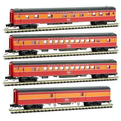 Z Scale MICRO-TRAINS MTL 994 01 190 SOUTHERN PACIFIC passenger 4-Car Runner Pack
