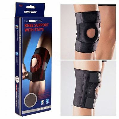 Knee Support with Stays for Basketball badminton Volleyball Adjustable Open Knee