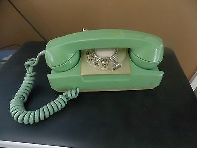 Vintage Rotary Dial olive green Telephone