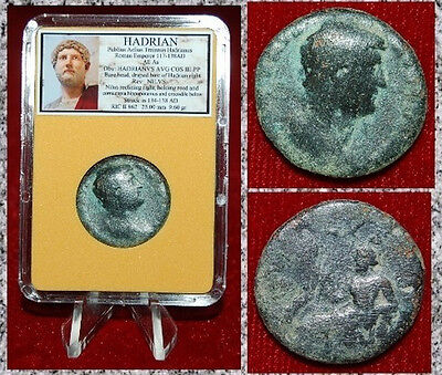 Ancient Roman Empire Coin Of HADRIAN Nilus Reclining Holding Cornucopiae