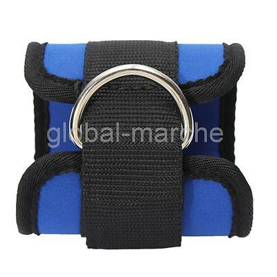 2pcs Gym Ankle / Foot Strap Cable Machine D-Ring Pulley Câble Attachment