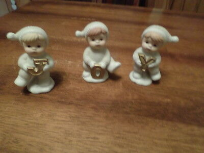 Home Interior Homco  Set Of 3 Joyfull Babbies And Friends #51021-98