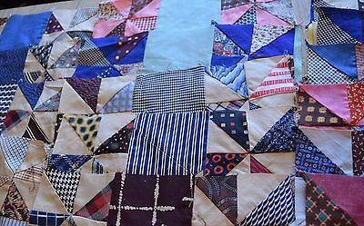 36 1930-50's large Pinwheel Double 9 Patch quilt blocks, zillions of fabrics!