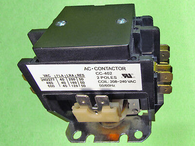Definite Purpose Contactor 2 Poles 40A 240V (2 Poles 40 Amp 240 Volts)
