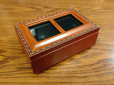 Music Box, Sankyo Jewelry Box, Wooden Wood Carved YOU LIGHT UP MY LIFE