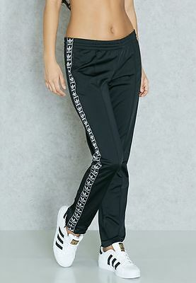 {BJ8336} WOMENS ADIDAS ORIGINALS FIREBIRD TRACK PANTS Black/White KYLIE JENNER!