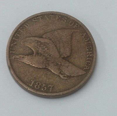 1857 Flying Eagle Small Cent Penny