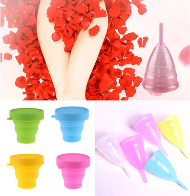 SET Tampon + Sterilisationsbecher Silikon Menstruationsbecher Menstruationstasse
