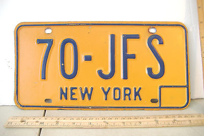 ~New York~70-Jfs~1973 -->1980~License Plate~