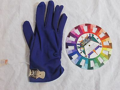 Vintage Nylon Ladies Gloves Purple Size 7-1/2 to 8