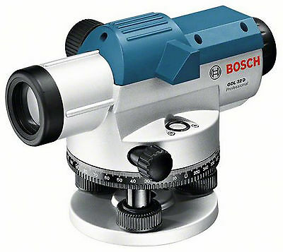 Bosch GOL 32 D 32x Optical Level Outdoor Surveying Tool BT 160 Tripod GR 500 Rod
