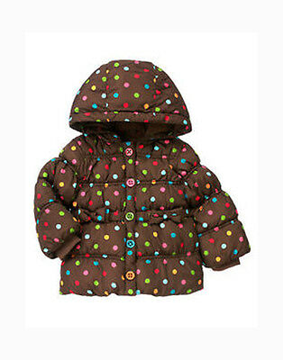 2T-3T Girl's Gymboree Winter Coat Hooded Jacket Kids Toddler Warm New With Tags