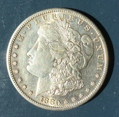 1880 S Morgan Dollar Beautiful Coin, Good Detail.