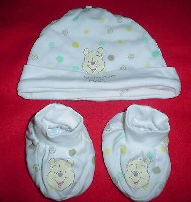 Disney Baby Hat and matching boots. 3-6 months.