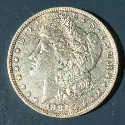 1882 O Morgan Dollar New Orleans Mint Nice Shine AU