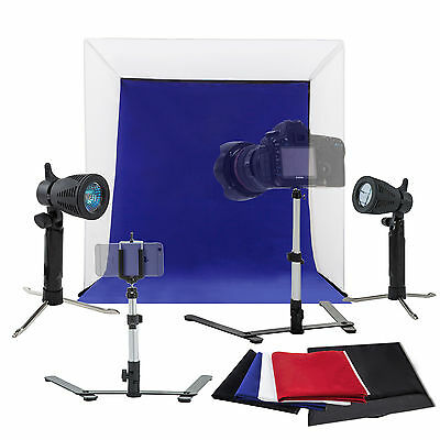 "16"" Photography Photo Studio Light Tent Kit Backdrop Cube In A Box Mini Stand"