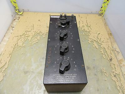 General Radio Co. Type 602-J Decade Resistance Box [3*F-2.5]