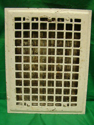 Vintage 1920S Iron Heating Grate Square Design 14 X 10.75 D