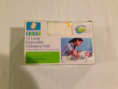 Especially for Baby Large Disposable Baby Changing Pads Open Box! 11 Pads 1 Used