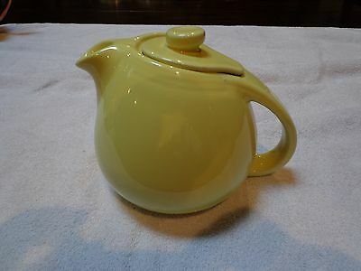 Vintage Hall Sani-Grid Teapot Canary Yellow Large Version Hard To Find Color!!!