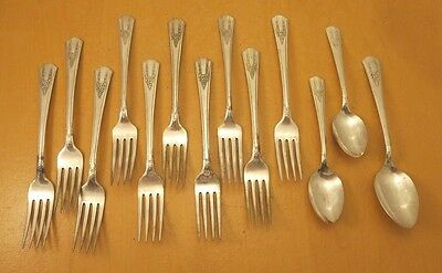 "Genesee Silver Plate, 13 Piece Lot of ""Genesee"" c: 1940"