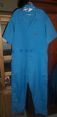 Dickies coveralls work suit blue short sleeve size 50 regular length free ship