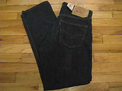 Vtg Levis 501 Black Denim 33X30 Made In Usa Nos