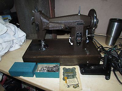ART DECO BROWN Kenmore Rotary Sewing Machine Model 117-812 With PEDAL/CASE