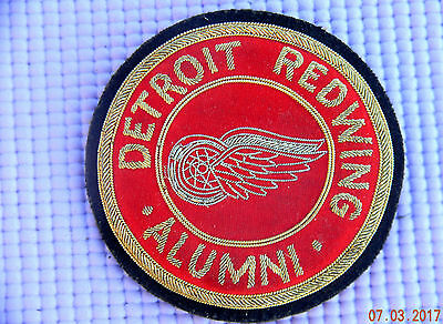 Vintage Detroit Red Wings Alumni Gold Bullion Pin Back Patch Authentic