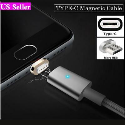 Magnetic Type-C Micro USB Fast Charging Cable Charger for LG Samsung S7 S8 Plus
