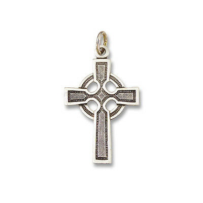 Sterling Silver 925 Traditional Antique Style Celtic Irish Cross Pendant