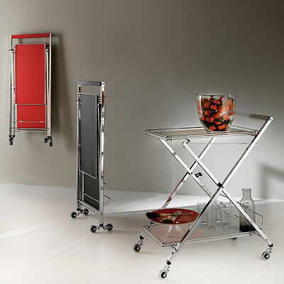 Portavivande Trolley carrello multiuso richiudibile, autoportante, appendibile