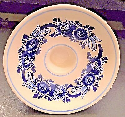 Delft Blue Footed Candle Holder by Elvesa Pottery Co. ~  Made in Holland