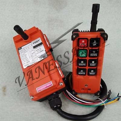Hoist Crane 9 commands Wireless Remote Control F21E1B Transmitter+Receiver 220V