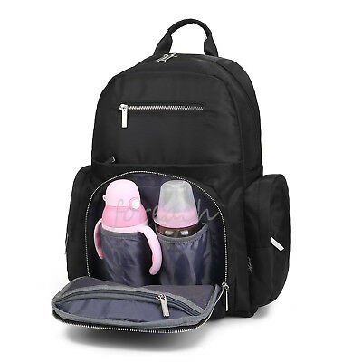 Daddy Mummy Bag Mother Backpack Baby Diaper Nappy Powder Bottle Travel Large USA
