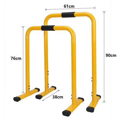 Double Dip Stand Fitness Equalizer Parallel Bar Exercise Dip Station Bar