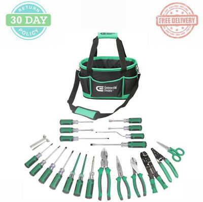 Electrician Tool Set 22-Piece Tool Bag Wire Stipper Screwdrivers Cable Ripper