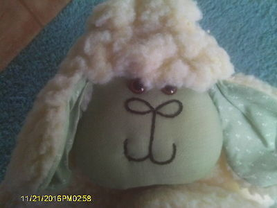 """Cute """"Wooly"""" Plush Sheep or Lamb for Baby's Nursery"""