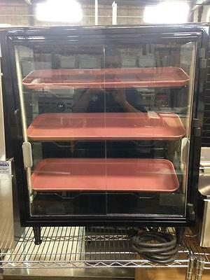 Counter Top Dry Pastry / Donut Case Glasswith Trays  Sliding / Hindged Doors Bin