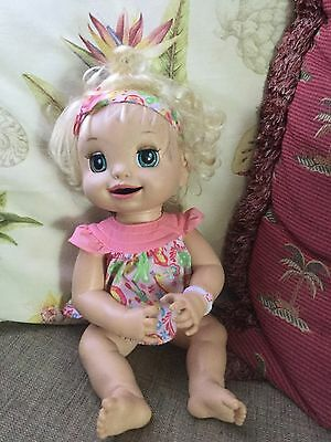 Hasbro Baby Alive Learn To Potty Doll Soft Face 2007 Hasbro Talks WORKS