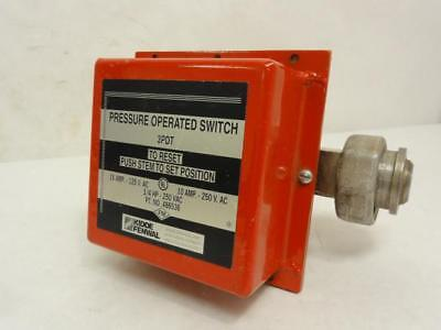 162755 Used, Kidde Fenwal 486536 Pressure Switch, 125VAC, 15A