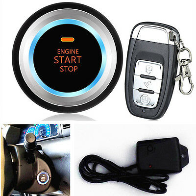 Car Auto Alarm System Security Vibration Alarm Engine Start Push Button Remote