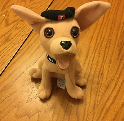 "6"" Applause Taco Bell Chihuahua wearing a black beret"