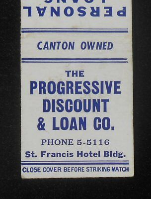 1950s The Progressive Discount & Loan Co. St. Francis Hotel Bldg. Canton OH MB